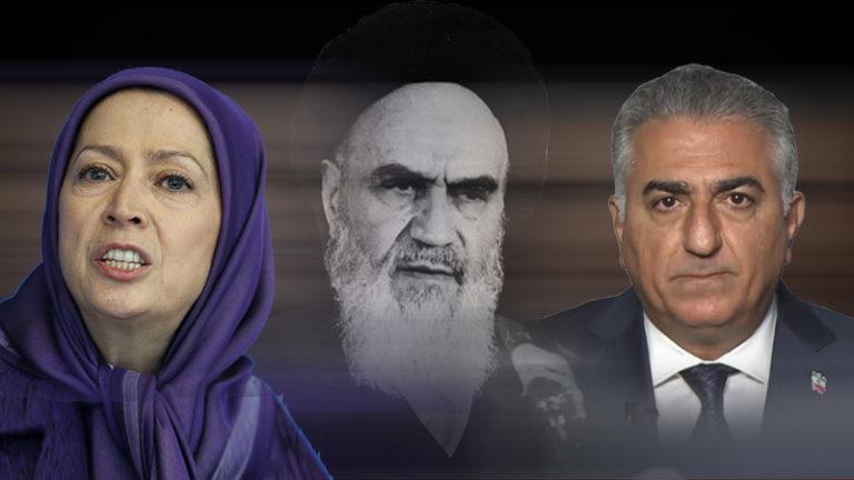 چقدر شبیه است حرفهای خمینی با رضا پهلوی و مریم رجوی - Restart-Khomeini-Reza Pahlavi-Mujaheddin