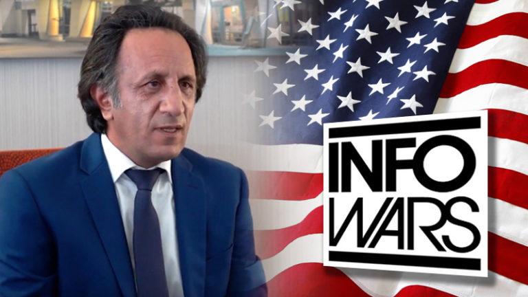 مصاحبه سید محمد حسینی شومن ایرانی و رهبر بزرگترین اپوزیسیون برانداز ایران با رسانه آمریکایی اینفووارز