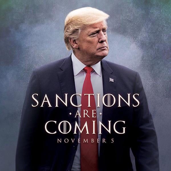 رئیس جمهور ترامپ : تحریم های رژیم تروریستی ایران می آیند