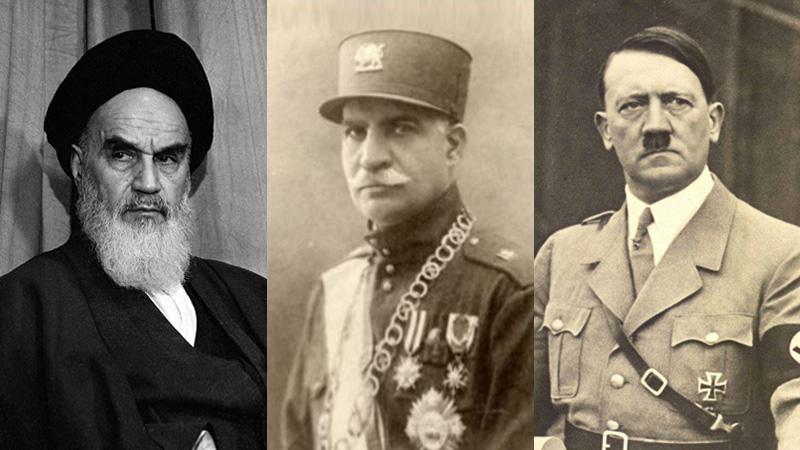 این سه نفر ضد اسرائیل بودند : خمینی ، رضا شاه پهلوی و هیتلر