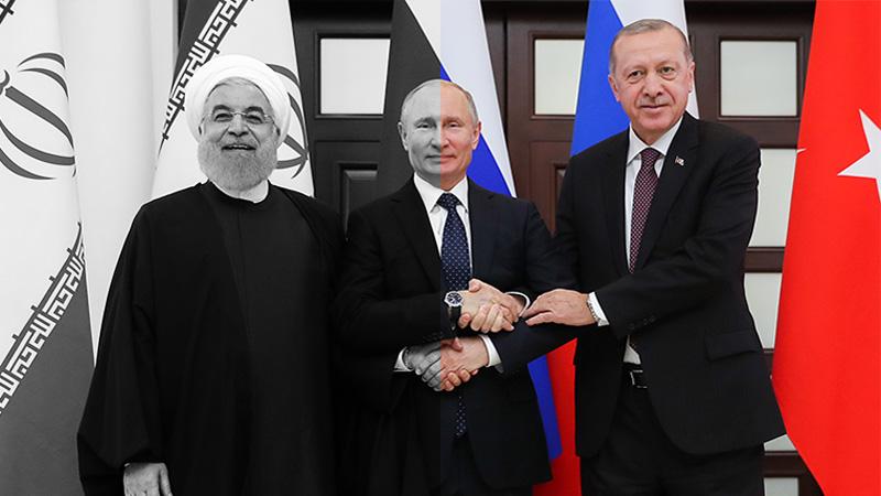 جمهوری اسلامی ترکیه ، اردوغان - ایران ، روحانی - روسیه ، پوتین