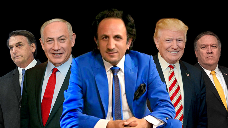 قیام میهن پرستان : لیدر جنبش ری استارت ، سید محمد حسینی - دونالد ترامپ ، رئیس جمهور آمریکا - مایک پمپئو ، وزیر خارجه آمریکا - بنیامین نتانیاهو ، نخست وزیر اسرائیل - ژائیر بولسونارو ، رئیس جمهور برزیل