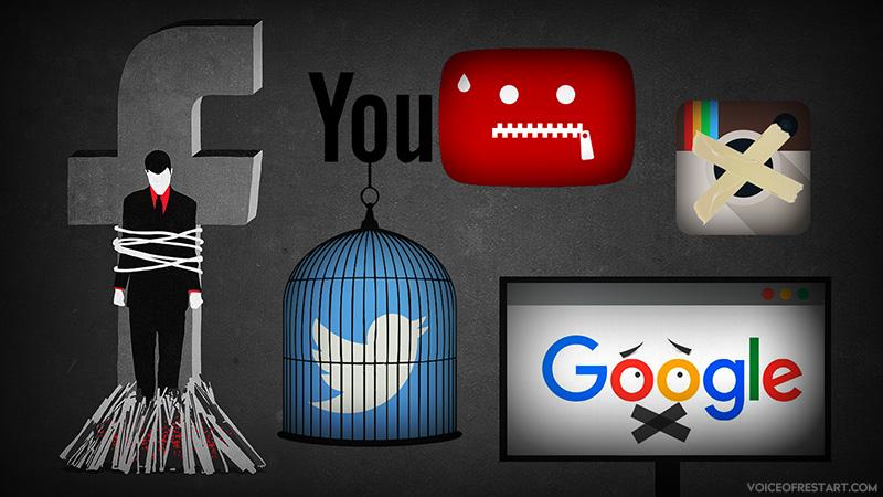 سانسور و بایکوت جنبش ری استارت سید محمد حسینی توسط : فیسبوک - اینستاگرام - توییتر - یوتیوب - گوگل