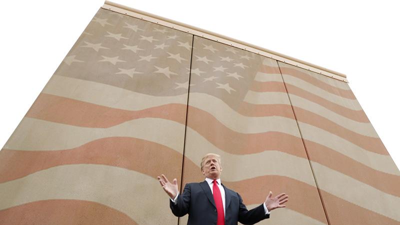 پرزیدنت دونالد ترامپ، رئیس جمهور آمریکا - کشیدن دیوار در مرز جنوبی