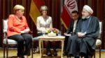 آنگلا مرکل صدر اعظم آلمان و حسن روحانی رئیس جمهوری اسلامی ایران
