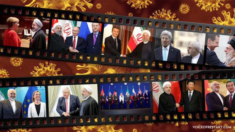 دستهای به خون آغشته سردمداران جهان به خاطر کمک به رژیم تروریستی ایران