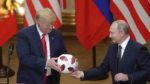 رئیس جمهور آمریکا دونالد ترامپ و رئیس جمهور روسیه ولادیمیر پوتین