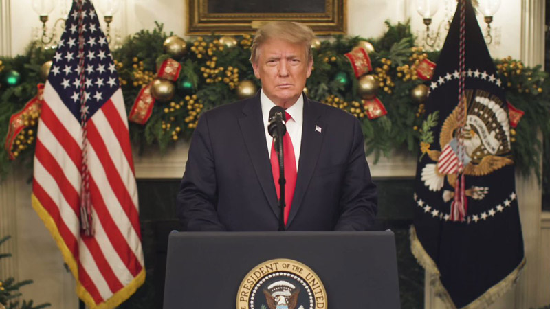بیانیه دونالد ترامپ، رئیس جمهور ایالات متحده آمریکا در 23 دسامبر 2020