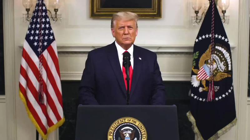 بیانیه بسیار مهم دونالد ترامپ، رئیس جمهور ایالات متحده آمریکا در 3 دسامبر 2020