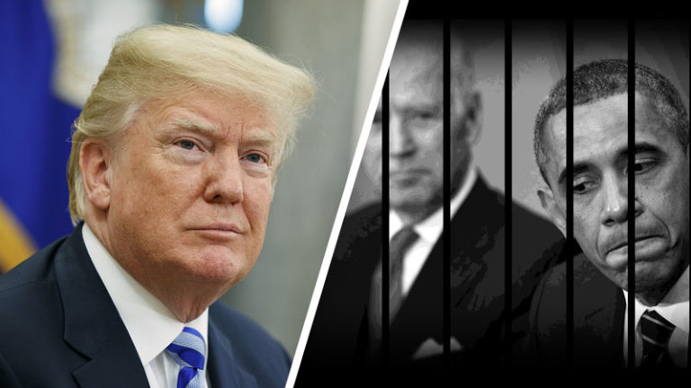 پرزیدنت دونالد ترامپ حامی میهن پرستان در مقابل باراک اوباما و جو بایدن حامی تروریست ها