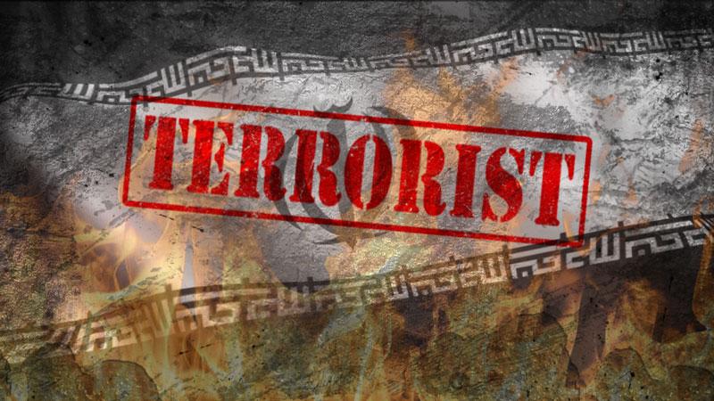 پرچم رژیم تروریست جمهوری اسلامی ایران