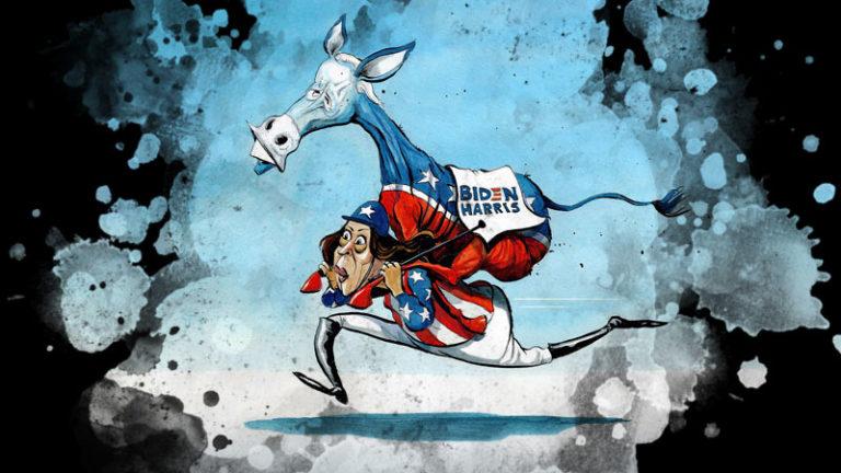 جو بایدن و کامالا هریس دموکرات های حامی تروریست و کمونیست و سوسیالیست