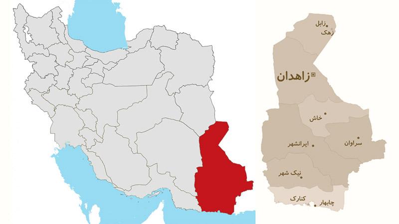 نقشه ایران سیستان و بلوچستان