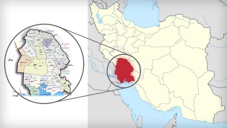 نقشه خوزستان ایران