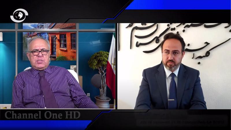 مانی مجد سخنگوی اپوزیسیون ری استارت سید محمد حسینی - شهرام همایون مدیر شبکه ماهواره ای کانال یک در لس آنجلس کالیفرنیای آمریکا