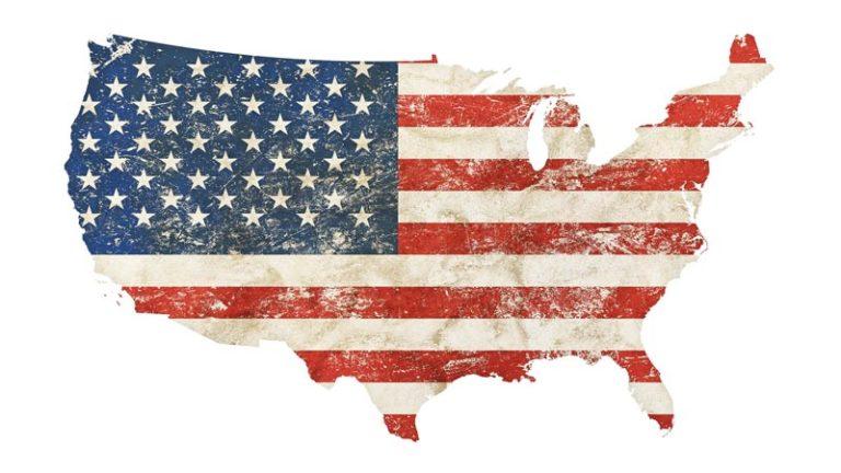 نقشه پرچم ایالات متحده آمریکا