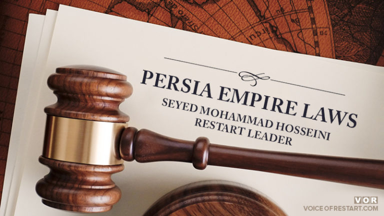 Some laws in the new Cyrus Empire of Persia, RESTART Leader, Seyed Mohammad Hosseini