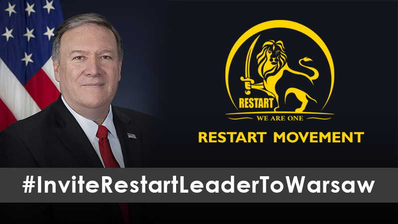 Pompeo - Invite Restart Leader To Warsaw - Restart Movement