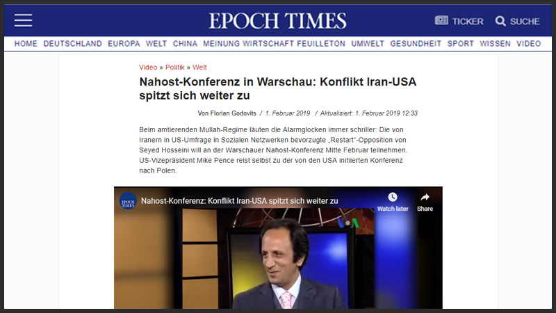 Restart Movement - GERMANY EPOCH TIMES: MEK AND REZA PAHLAVI  HAS DEFEATED VERY HARD FROM RESTART OPPOSITION