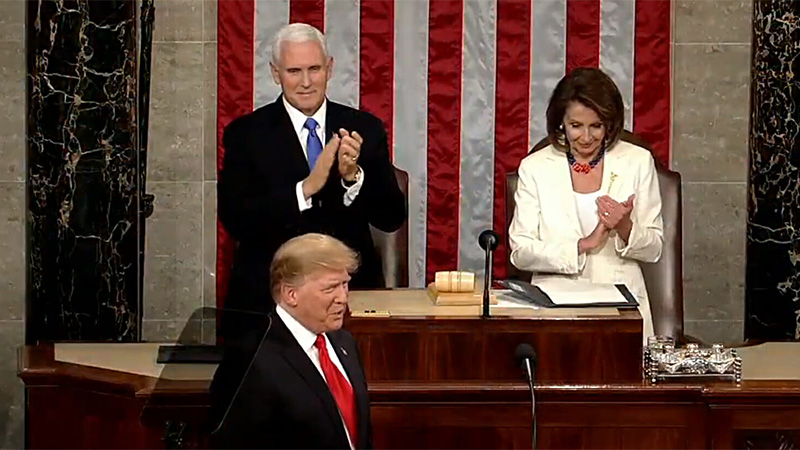 nancy pelosi - donald trump - Mike Pence - state of the union speech 2019
