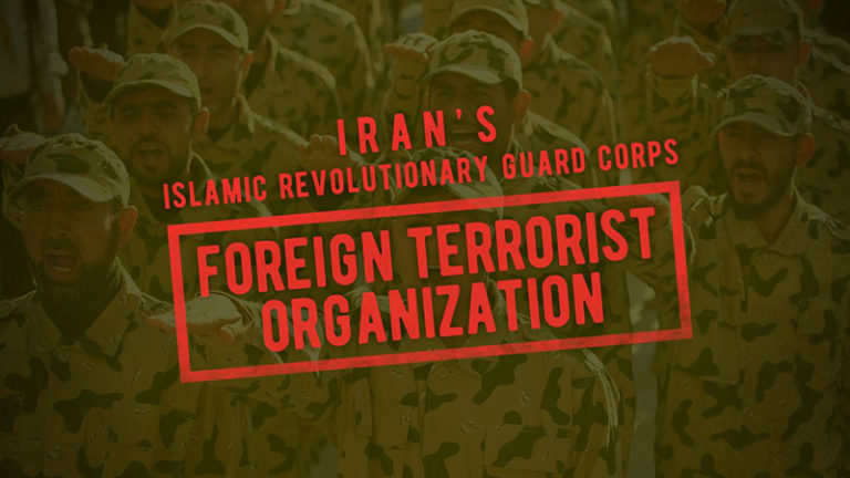 DESIGNATION OF THE ISLAMIC REVOLUTIONARY GUARD CORPS AS A FOREIGN TERRORIST ORGANIZATION