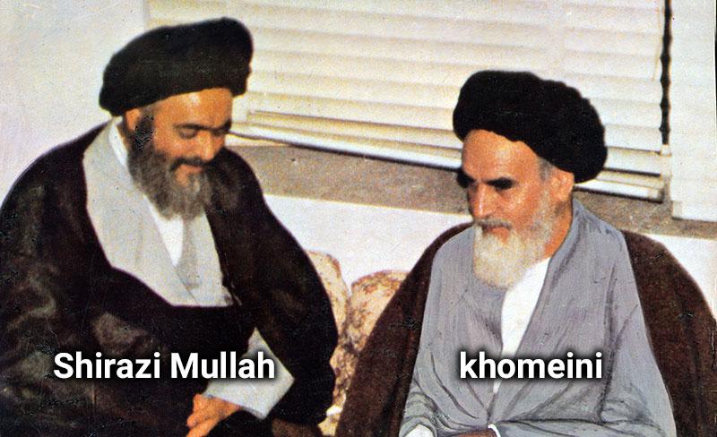 khomeini and Sadiq Shirazi Mullah