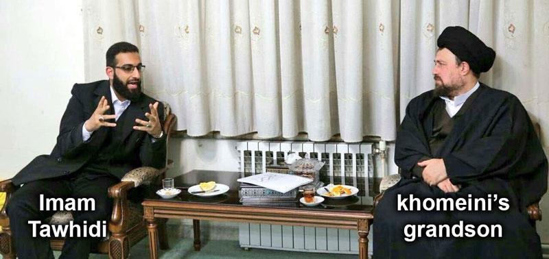 Hasan khomeini ( khomeini grandson ) and Imam Mohammad Tawhidi