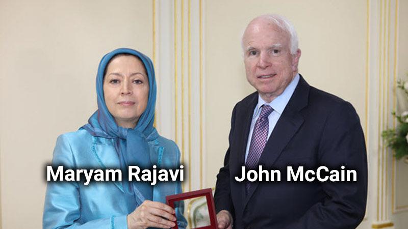 John McCain and Maryam Rajavi terrorist organization Mujahedin-e Khalq ( MEK )
