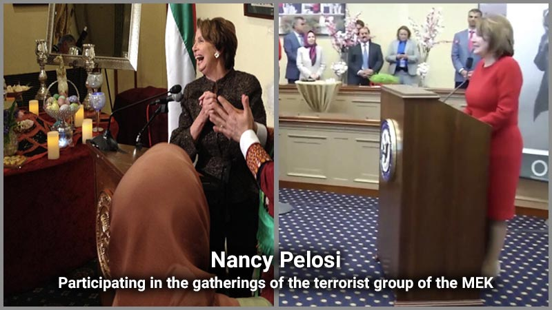 Nancy Pelosi, Participating in the gatherings of the terrorist group of the Mujahedin-e Khalq ( MEK )