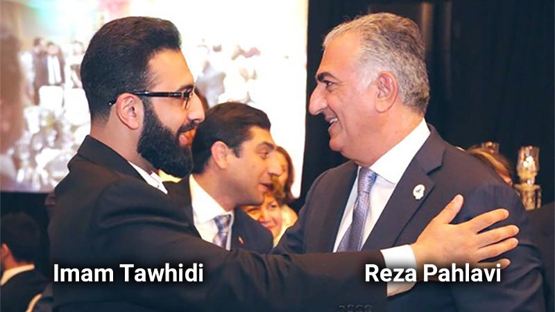 Reza Pahlavi, the son of the former Shah of Iran and Imam Mohammad Tawhidi