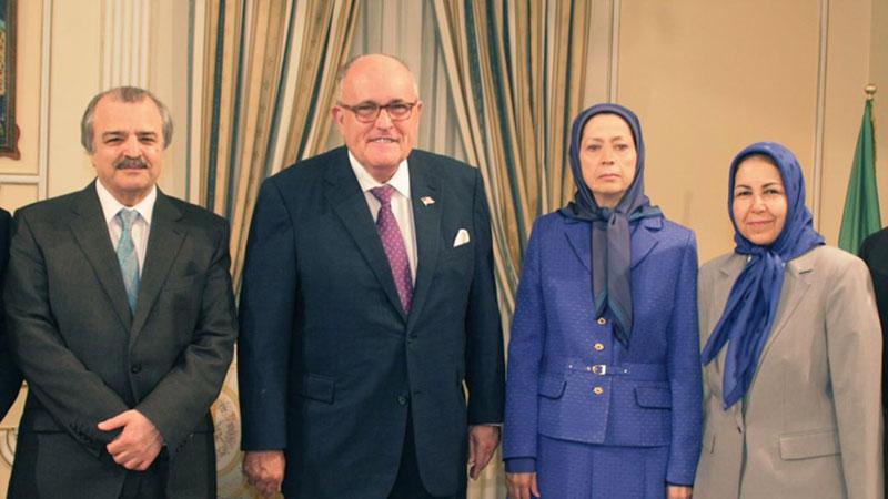 Rudy Giuliani - Maryam Rajavi terrorist organization Mujahedin-e Khalq ( MEK )