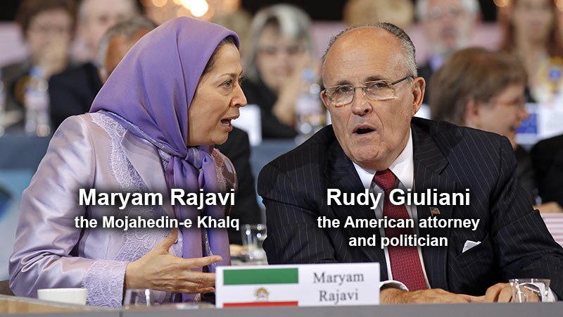 Rudy Giuliani, the American attorney and politician and Maryam Rajavi terrorist organization the Mujahedin-e Khalq ( MEK )