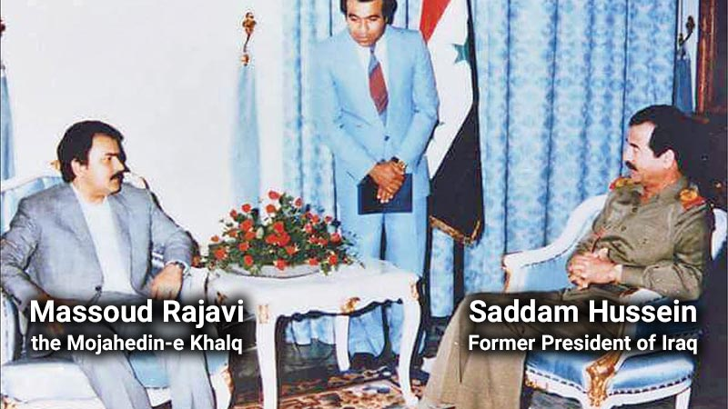 Saddam Hussein, Former President of Iraq and Massoud Rajavi, the Mojahedin-e Khalq
