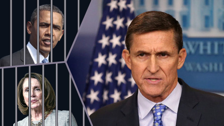 Can Michael Flynn's return to President Trump's cabinet lead to the arrest of Barack Obama and Nancy Pelosi?