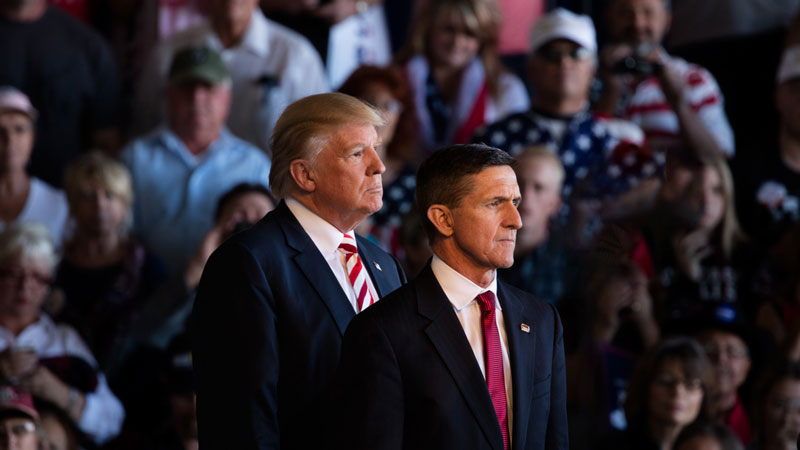 President Donald Trump and General Michael Flynn