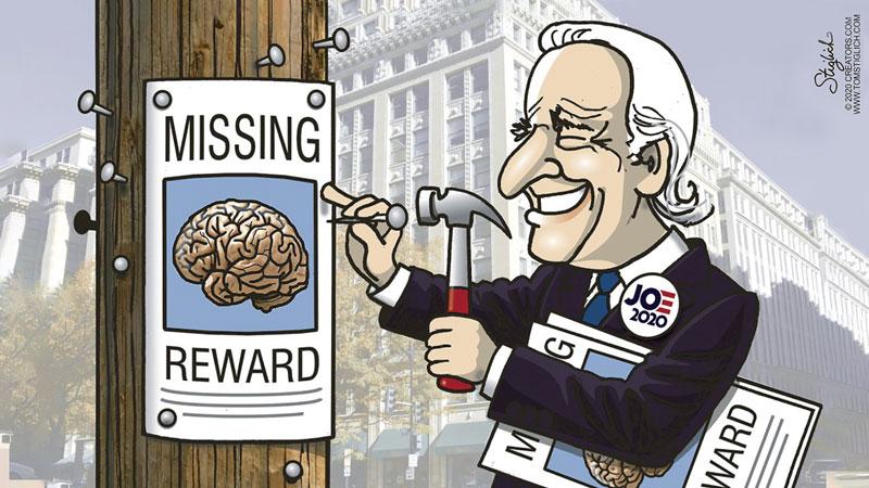 Joe Biden's brain is missing