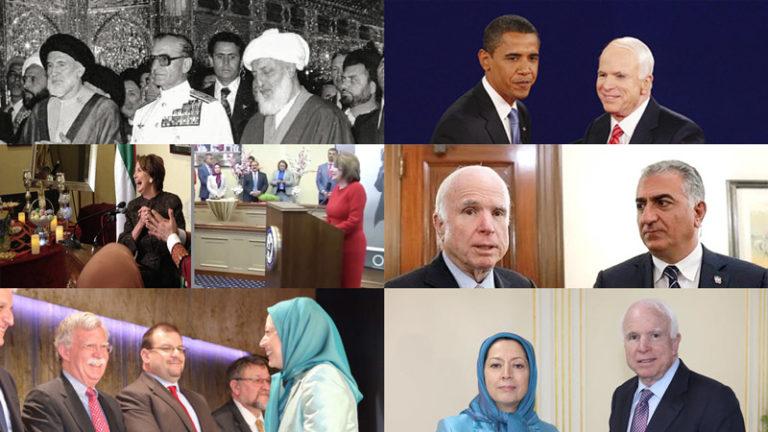 Pahlavi - MEK (Mujahedin-e Khalq) - Barack Obama - John McCain - Nancy Pelosi - John Bolton