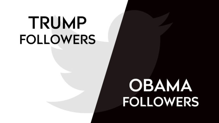 Trump followers vs Obama followers