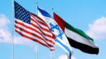 USA, Israel and UAE Flags
