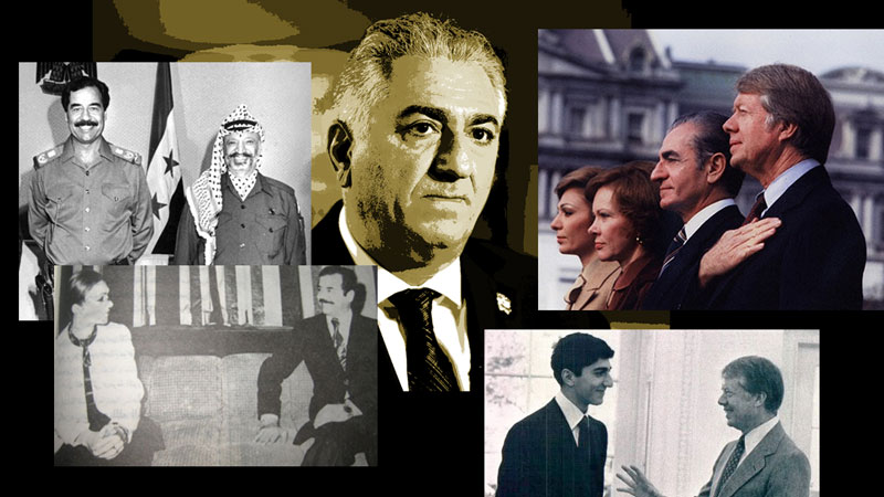 Mohammad Reza Shah Pahlavi, the former Shah of Iran and the family and his son Reza Pahlavi