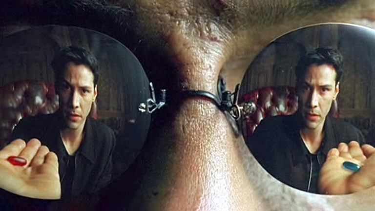 The Biggest 'Matrix' Question of All: Red Pill or Blue Pill?!