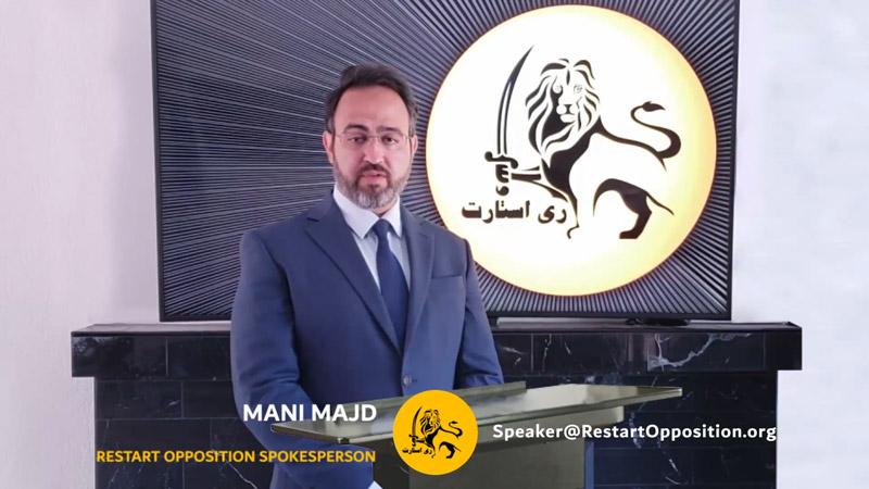 Mani Majd - RESTART Opposition Spokesperson - Seyed Mohammad Hosseini